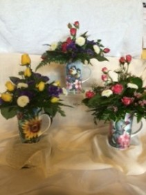 Fresh Flowers in a Mug MM10 Floral Arrangement with keepsake