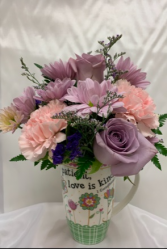 Fresh Flowers in Love is Kind Coffee Mug Fresh Arrangement