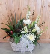 Fresh Flowers & Plant Basket