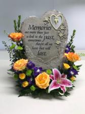 Fresh Funeral Stone Arrangement Sympathy