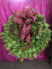Fresh Hand Made Christmas Wreath  Wreath for Door/Cemetary