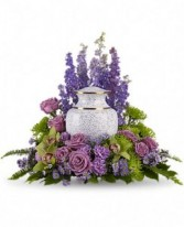 Fresh Lavender Urn Wrap Urn Wreath