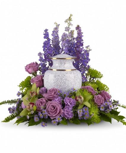 Fresh Lavender Urn Wrap Urn Wreath