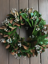 Fresh Magnolia Wreath