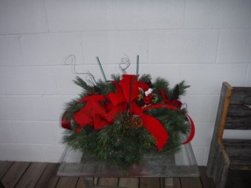 Fresh pine grave pillow Cemetary piece