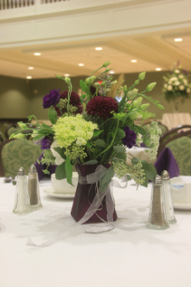 Fresh Vased Table Centerpiece Fresh Vased Arrangement