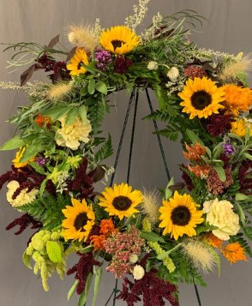 Fresh Wreath Sympathy Arrangement