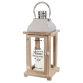 Friends are the flowers in the garden of Life. Wooden Lighted Lantern
