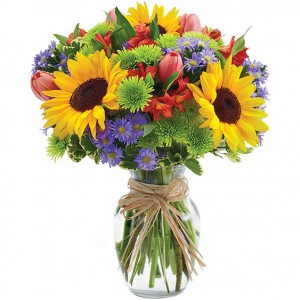 Bright sunshine arrangement
