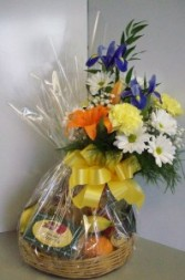 Fruit And Flower Basket Flower/Fruit/Gourmet Gift Basket