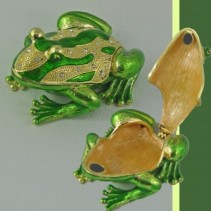 Frog Crystal Ring Box Gift