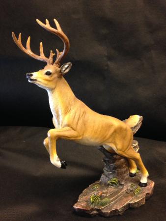 Jumping deer statue Masculine decor