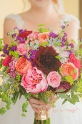 From The Garden Bridal Bouquet Hand-Tied Bridal Bouquet
