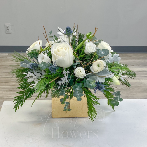 Winter Solstice Vase Arrangement in Middletown, NJ | Fine Flowers