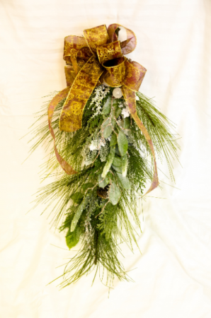 Frosted Christmas Silk Door Swag in Corner Brook, NL | The Orchid