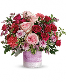 Frosted Pink Honor Flower Arrangement