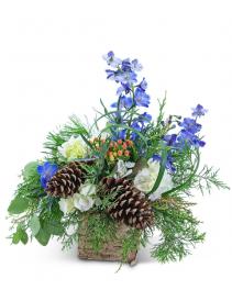 Frosted Winterberry Flower Arrangement