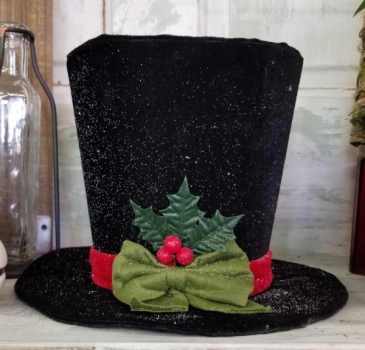 Frosty Hat Christmas Decor