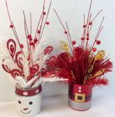 Frosty Or Santa Silk Arrangement