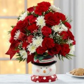Frosty Snowman Arrangement Holiday Arrangement