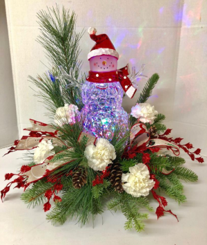 Frosty the Glowman  in Michigan City, IN | WRIGHT'S FLOWERS AND GIFTS INC.