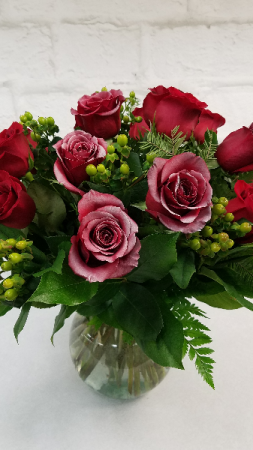 Frosty Winter Roses  Designed by Leah in South Milwaukee, WI | PARKWAY FLORAL INC.
