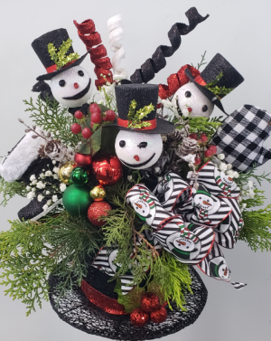 Frosty's Top Hat- LOCAL DELIVERY ONLY Christmas Arrangement in Hesperia, CA | FAIRY TALES FLOWERS & GIFTS