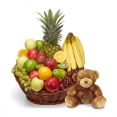 Fruit and Chocolate Gourmet basket for new moms.   Gift Basket