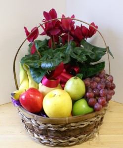Fruit and Flower Basket Gift Basket in Skowhegan, ME | SKOWHEGAN FLEURISTE & FORMALWEAR