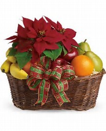 Fruit and Poinsettia Basket Teleflora