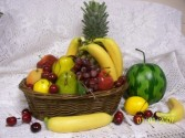 Fruit Basket Fruit and Candy Basket