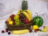 Fruit Basket Fruit and Candy Basket