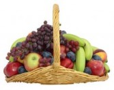 Fruit Basket  fruit in a fire side basket