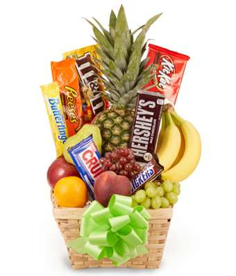 Fruit & Candy  Gift Basket