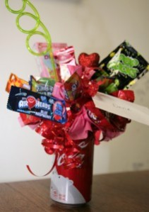 Fruit Candy Soda Pop Bouquet Valentine's Day Candy Bouquet