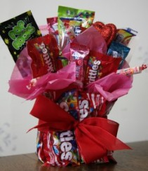 Fruit Candy Vase Bouquet Candy Bouquet