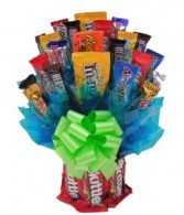 Fruit Candy Vase Bouquet Gift Basket