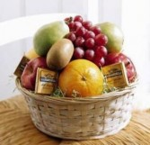 Fruit & Chocolate Squares Gift Basket