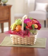 Fruit & Flower Basket Gift Basket