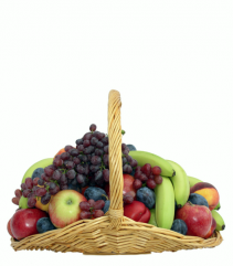 fruit in a fire side basket
