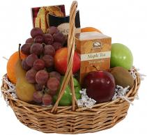 Fruit, Tea & Cookies Gift Basket