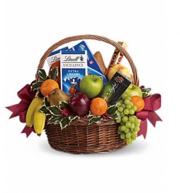 Fruits and Chocolate Gift Basket  Gift basket
