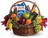 Fruits and Sweets Holiday Basket Holiday Arrangement