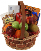Fruits, Nuts, Cookies  and  Chocolate  Gift Basket