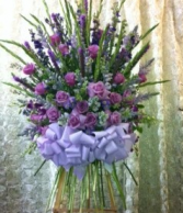 FS 1 LARGE LAVENDER ROSE SPIKEY GLAD STANDING SPRAY
