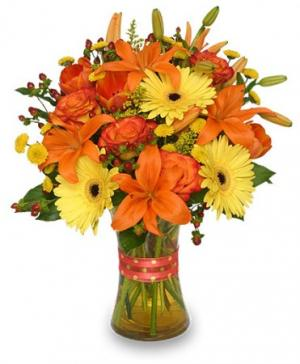 Flor-Allure Bouquet of Summer Flowers in Sterling, KS | THE FLOWER SHOP ON BROADWAY