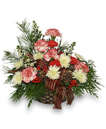 CHRISTMAS TRADITIONS Basket Arrangement