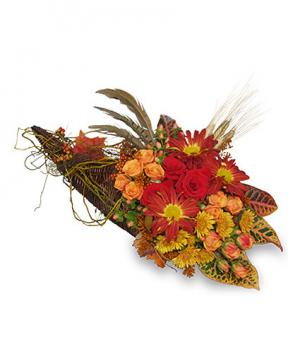 Earth's Abundance Cornucopia Arrangement in Richland, WA | ARLENE'S FLOWERS AND GIFTS