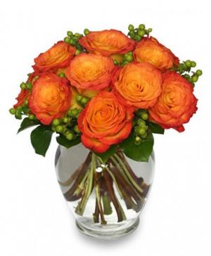 Flames of Passion Dozen Roses in Carlsbad, CA | VICKY'S FLORAL DESIGN