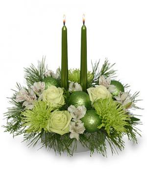Glowing Green Arrangement in Canon City, CO | TOUCH OF LOVE FLORIST AND WEDDINGS